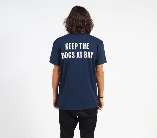 Dogs At Bay Navy Tshirt by Bad Dreems