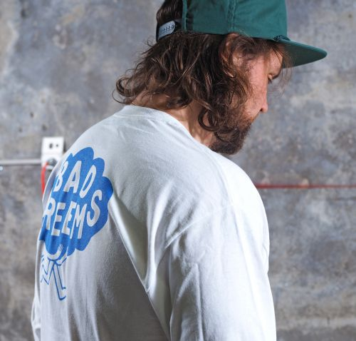 Runner White Longsleeve Tshirt by Bad Dreems