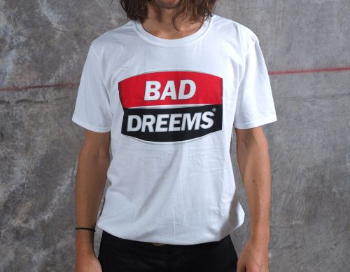 West End White Tshirt by Bad Dreems