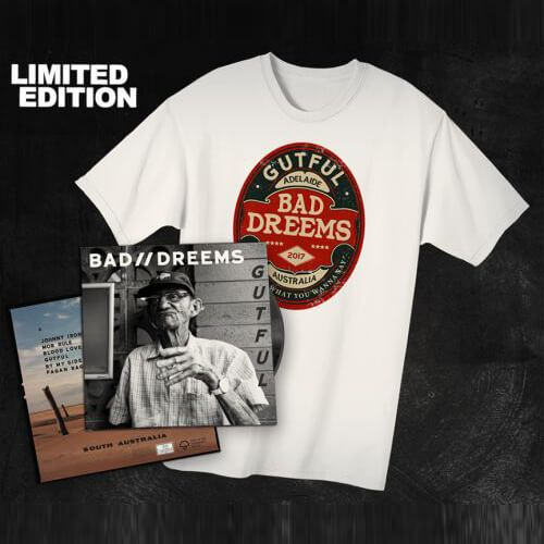 'Gutful' Limited Edition Vinyl + t-shirt bundle by Bad Dreems