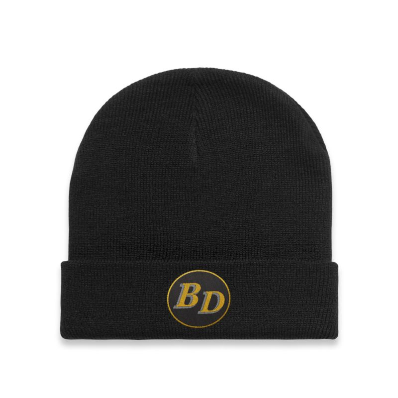 Circle Patch Black Beanie
